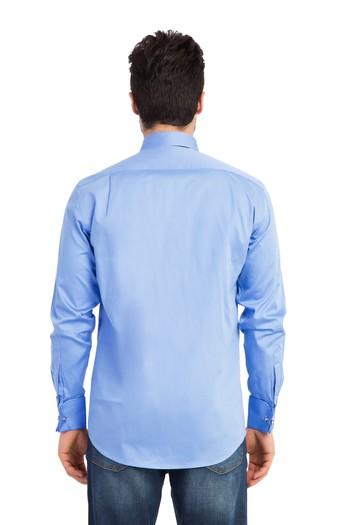Erkek Giyim - Uzun Kol Manşetli Saten Gömlek