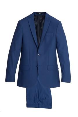 Erkek Giyim - Mavi 42 Beden Slim Fit Takım Elbise