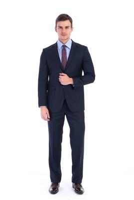 Erkek Giyim - Lacivert 40 Beden Slim Fit Takım Elbise