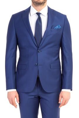 Erkek Giyim - Mavi 48 Beden Süper Slim Fit Takım Elbise