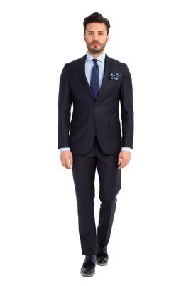 Erkek Giyim - Lacivert 50 Beden Slim Fit Takım Elbise
