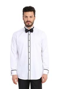 Erkek Giyim - Ata Yaka Regular Fit Saten Gömlek