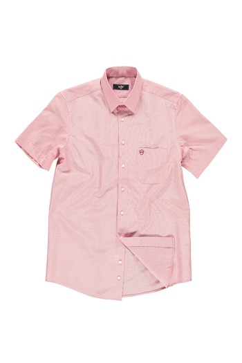Erkek Giyim - Kısa Kol Kareli Gömlek
