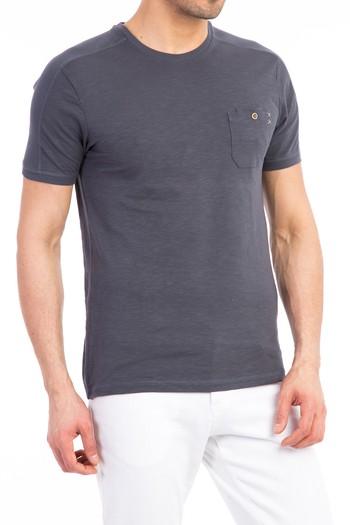 Erkek Giyim - Bisiklet Yaka Slim Fit Süprem Tişört