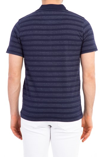 Erkek Giyim - Polo Yaka Çizgili Tişört