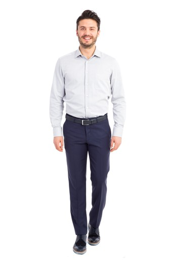 Slim Fit Yün Pantolon