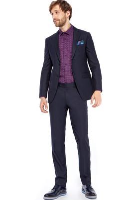 Erkek Giyim - Lacivert 44 Beden Slim Fit Takım Elbise