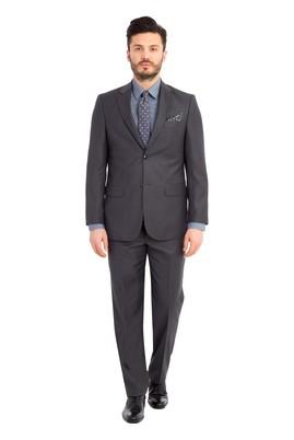Erkek Giyim - Füme Gri 48 Beden Klasik Takım Elbise