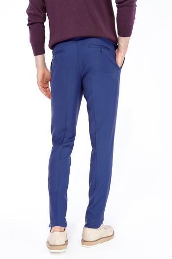 Erkek Giyim - Süper Slim Fit Yünlü Kuşgözü Pantolon