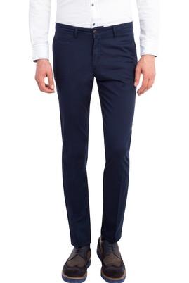 Erkek Giyim - Lacivert 46 Beden Slim Fit Saten Pantolon