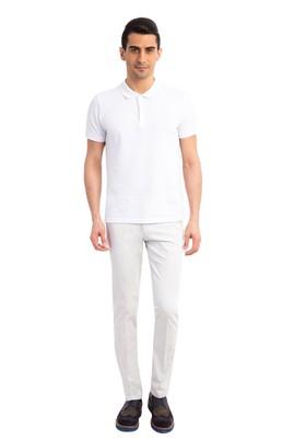Erkek Giyim - Krem 46 Beden Slim Fit Saten Pantolon