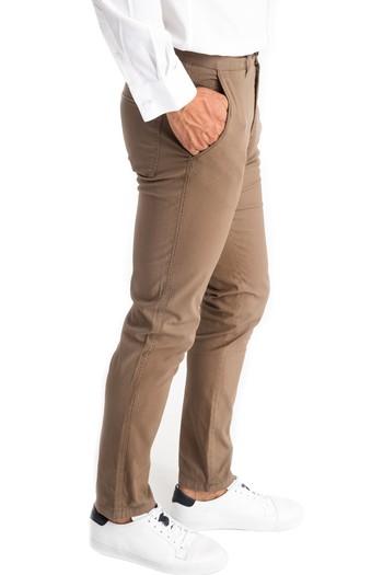 Erkek Giyim - Slim Fit Desenli Pantolon
