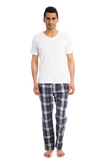 Erkek Giyim - Ekose Pijama Altı