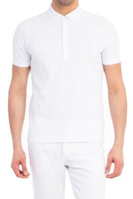Erkek Giyim - Beyaz XL Beden Polo Yaka Süprem Slim Fit Tişört