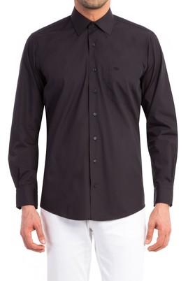 Erkek Giyim - Siyah 3X Beden Uzun Kol Klasik Gömlek