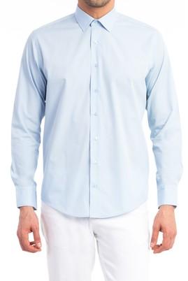 Erkek Giyim - Açık Mavi L Beden Uzun Kol Slim Fit Gömlek
