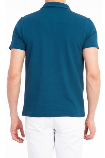 Erkek Giyim - Yarım İtalyan Yaka Slim Fit Tişört