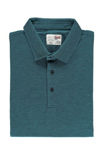 Erkek Giyim - King Size Polo Yaka Slim Fit Tişört