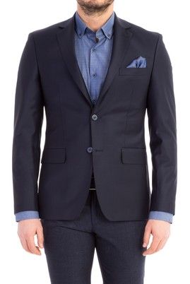 Erkek Giyim - Lacivert 60 Beden Slim Fit Blazer Ceket