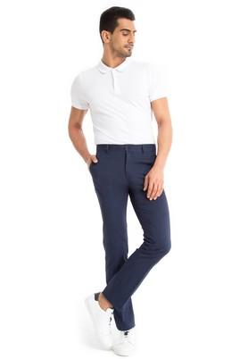 Erkek Giyim - LACİVERT 50 Beden Slim Fit Spor Pantolon