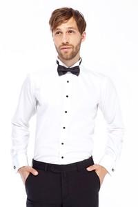 Erkek Giyim - Ata Yaka Slim Fit Saten Gömlek