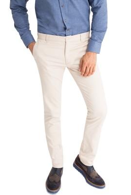 Erkek Giyim - Bej 48 Beden Slim Fit Desenli Pantolon