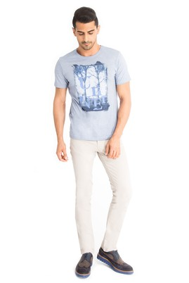 Erkek Giyim - Bej 48 Beden Slim Fit Kuşgözü Pantolon