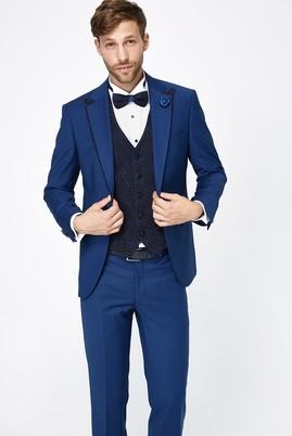 Erkek Giyim - Mavi 46 Beden Mono Yaka Smokin / Damatlık & Set