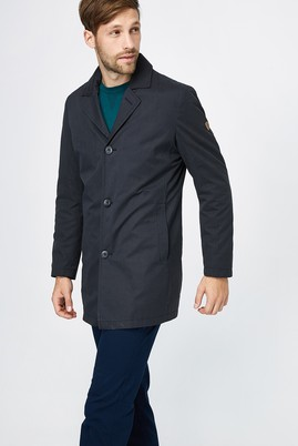 Erkek Giyim - Siyah 62 Beden Bonded Trençkot
