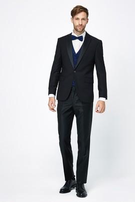 Erkek Giyim - Siyah 44 Beden İnce Mono Yaka Smokin / Damatlık & Set