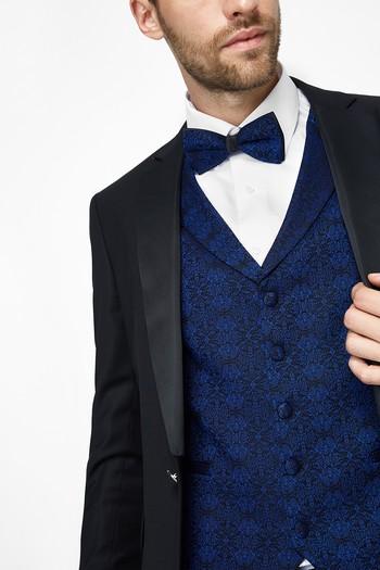 Erkek Giyim - İnce Mono Yaka Smokin / Damatlık & Set