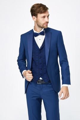 Erkek Giyim - Mavi 48 Beden İnce Mono Yaka Smokin / Damatlık & Set