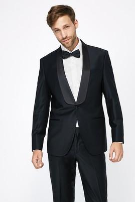 Erkek Giyim - Siyah 46 Beden Şal Yaka Slim Fit Smokin / Damatlık