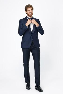 Erkek Giyim - Lacivert 46 Beden Şal Yaka Slim Fit Smokin / Damatlık