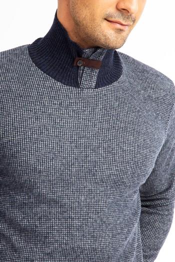 Erkek Giyim - Bato Yaka Slim Fit Sweatshirt