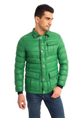 Erkek Giyim - Açık Yeşil 52 Beden Kapitone Spor Mont
