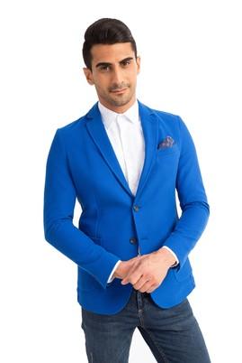 Erkek Giyim - Mavi 48 Beden Örme Ceket