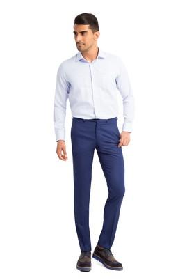 Erkek Giyim - Mavi 52 Beden Klasik Desenli Pantolon