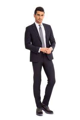 Erkek Giyim - Lacivert 52 Beden Slim Fit Takım Elbise