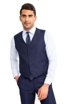 Erkek Giyim - Lacivert 58 Beden Klasik Yelek