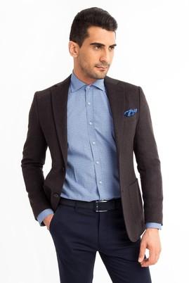Erkek Giyim - Antrasit 50 Beden Slim Fit Blazer Ceket