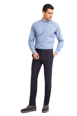 Erkek Giyim - Lacivert 56 Beden Klasik Pantolon