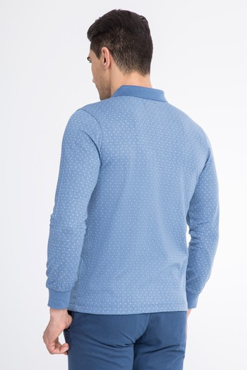 Polo Yaka Slim Fit Düğmelİ Sweatshirt