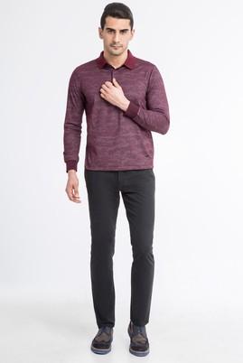 Erkek Giyim - Füme Gri 56 Beden Saten Pantolon