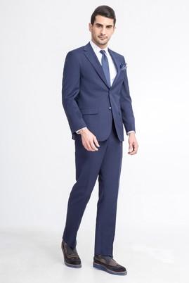 Erkek Giyim - KOYU MAVİ 50 Beden Klasik Takım Elbise