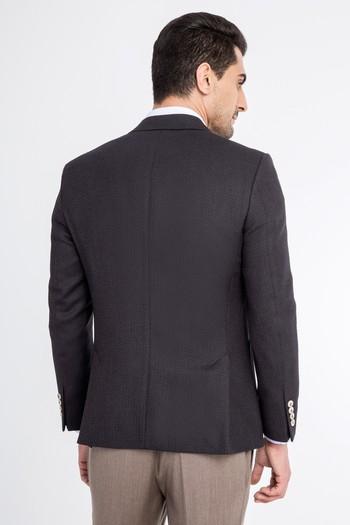 Erkek Giyim - Kuşgözü Yünlü Ceket