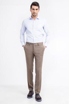Erkek Giyim - Kahve 50 Beden Slim Fit Gabardin Pantolon