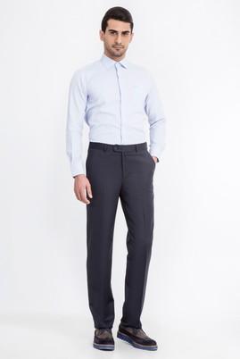 Erkek Giyim - Füme Gri 54 Beden Yünlü Flanel Pantolon