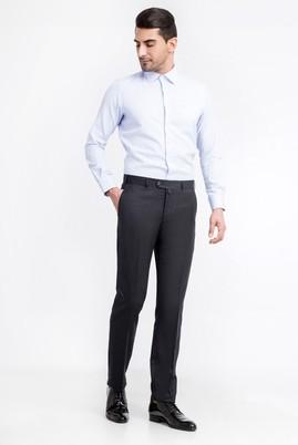 Erkek Giyim - Antrasit 48 Beden Yünlü Flanel Pantolon