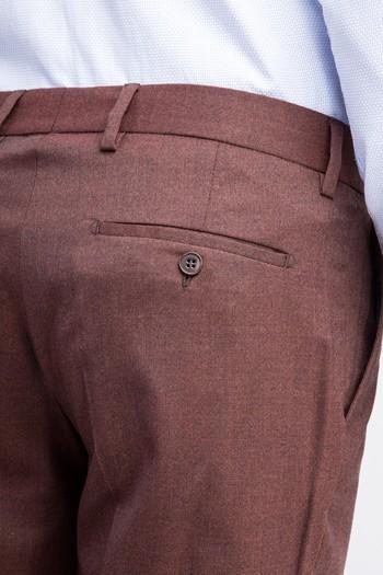 Erkek Giyim - Süper Slim Fit Flanel Pantolon